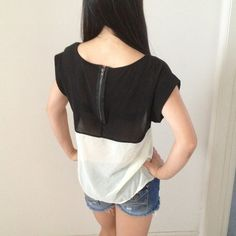 A simple yet classic shirt with a sheer bottom $10.00