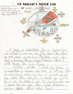 My Teacher's Secret Life reading/writing innovation to make a class book - Priceless!  Come on over to my blog to read some of the kids' stories!