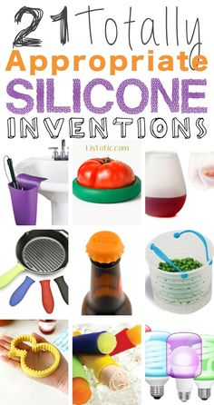 21 Totally Appropriate Silicone Inventions :: Ha! I need to order some of these.