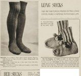 Knit Vintage Longs Socks and Bed Socks Patterns - Long Socks Knitting Pattern - Bed Socks Knitting Pattern - Socks to Knit Patterns