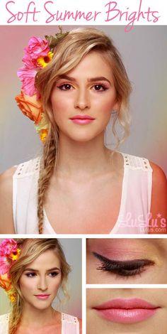 pastel, hair colors, summer looks, summer hair, summer makeup, fashion blogs, lip colors, makeup looks, summer colors