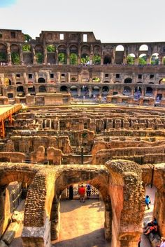 Inside The Colosseum, Rome Italy