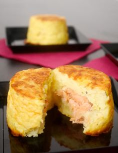 Tortino di patate con cuore al salmone