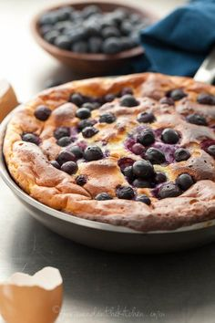 Sweet Blueberry Lemon Puffed Omelette (Primal, Paleo with mod)