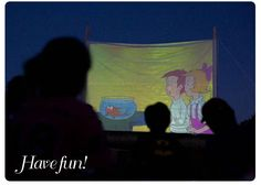 Outdoor movie night - what a great idea for family and friends. idea, backyard movi, famili, book, backyard parties, movi night, outdoor movi, movie nights, kid parties