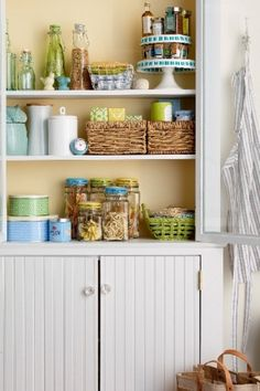 Turn clutter into cute with stylish storage boxes, baskets, and bottles! Click through to get more #HomeGoodsHappy organization inspiration on our Design Happy blog.