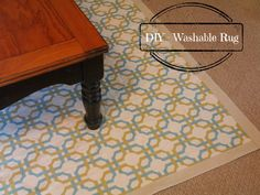 Love this #DIY rug from @Katydid Country!  She used @Waverly fabric to #waverize this rug...and it's washable!