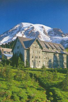 Paradise lodge.  Mt. Rainier.