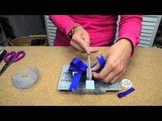 Bowdabra Snowman Bottle Cap Hair Bow video tutorial