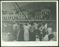 First view of Santos from the Immigrant ship. Circa 1910. ♥