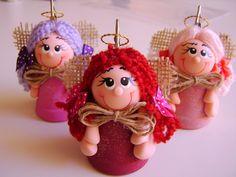 BISCUIT - CURSOS CARMOART (adultos e crianças): anjos em biscuit