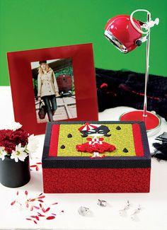 Caixa de bijuterias em carton mousse / DIY, Craft, Upcycle