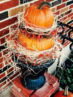 Stack a Pumpkin Topiary - 19 Thanksgiving Kids' Crafts on HGTV