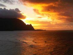 The brilliant colors of a #kauai #sunset #hawaii
