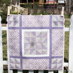 Purple Baby Makes 3, in the October 2013 issue of American Patchwork & Quilting Magazine. Designed by Sarah Price.