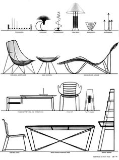 A great array of minimalist mid-century furniture, 1952. #vintage #1950s #furniture