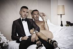 In Bed with Caten Twins by Christian Ferretti