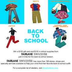 ENTER to WIN a $200 Back-to-School Gift Pack from Fairlane Town Center - ENDS 9/6 #ShopFairlane