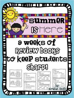 Awesome product to help keep our kiddos sharp! @Amelia Stone Estevez-Moquete @Beth J Burch @Sarah Chintomby Welday I downloaded the preview from teachers pay teachers and this looks awesome! (she even explains how to set the copy machine to do a top and bottom staple so that all you do is then chop the packets in half and you get two booklets (they are half sheet sized)