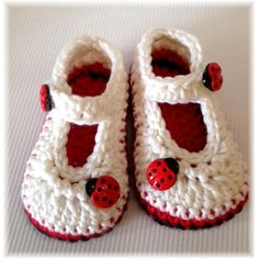 Lady Bug Baby Booties by TippyToesbabyshoes on Etsy