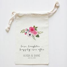 custom wedding favor bags | Piccolo bag ideas...