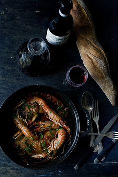 Red wine & shrimp stew