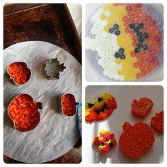 Pumpkin Hama beads