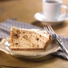 Mocha Toffee Ice Box Pie:  2 cups whipping cream 1 tablespoon instant coffee 1/4 cup sugar 10 Keebler® Chips Deluxe® Original cookies 1/2 cup toffee bits 1 Keebler® Ready Crust® Chocolate Pie Crust