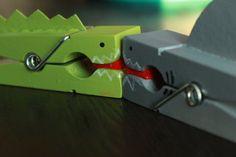 Shark and Gator clothes pins!