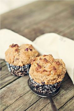 Cranberry walnut muffins.