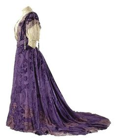House of Worth, Voided-Velvet Purple Gown, Paris, 1896.