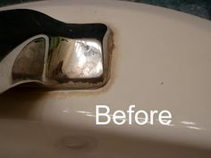 Get rid of Mineral Deposits around faucets... good to know