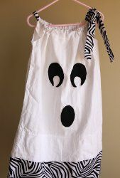 Ghost Pillowcase Dress - just in case you need a last-minute costume