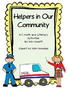 "Literacy Activities:""Our Community Helpers"" book (p.3-10)""Our Community Helpers"" student book (p.11-18)Community Helper Memory games ..."