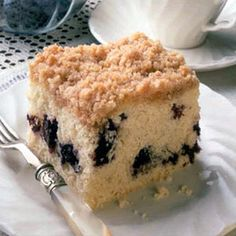 Streusel Blueberry Coffee Cake.