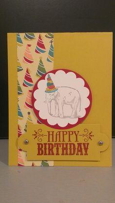 SU! You're Amazing stamp set and Birthday Basics DSP