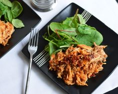 Stupid Easy Paleo's Kickin' BBQ Shredded Chicken Slow cooker http://nomnompaleo.com