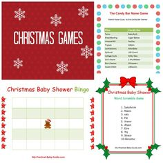 Free Printable #Christmas #Baby #Shower #Games.