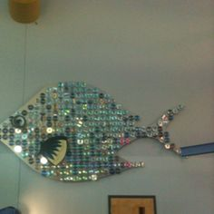 Upcycled CD fish