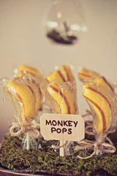 African party theme.  Monkey pops