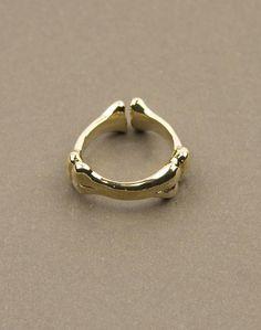 Gold Bones Ring