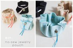 DIY No Sew Leather Jewelry Bag Tutorial