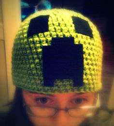 crochet #minecraft creeper beanie