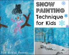 Snow Painting Technique for Kids -- Easy and Fun!