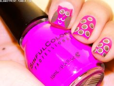 Pink Spotted Owl Nail Art  #Nails #Pink #owl
