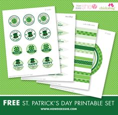 Free St Patricks Day Printables and labels @Heather - Chickabug