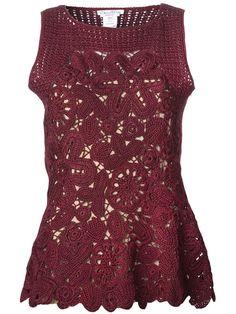 Crochet pendientes: Crochet superior