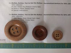 I Picked My Plum and got some amazing wood buttons!