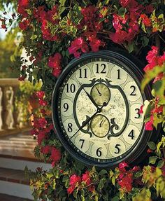 Our intricately detailed Lavina Outdoor Clock makes a beautiful addition to your outdoor living space.