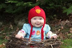Crochet Baby Bird Hat by iheartuboutique on Etsy, $15.00